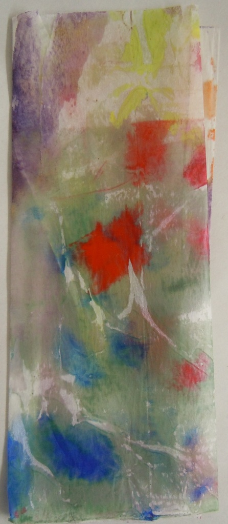 Encaustic on silk gampi